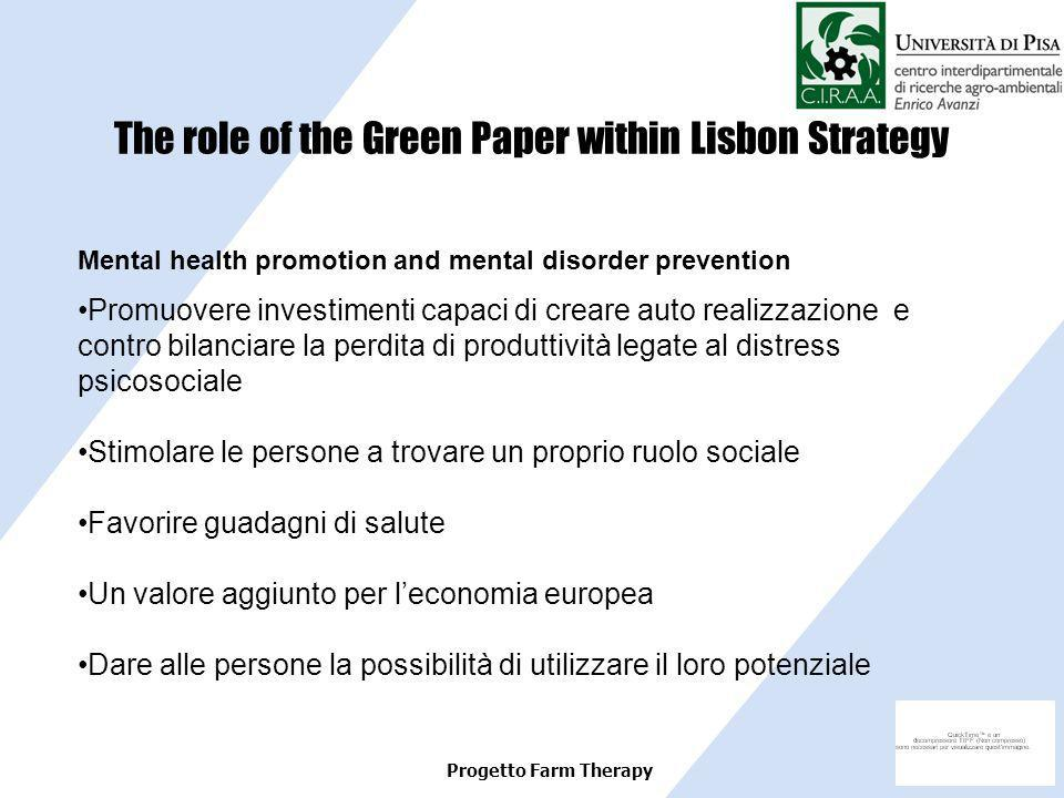The role of the Green Paper within Lisbon Strategy