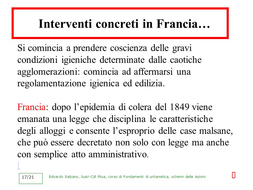 Interventi concreti in Francia…