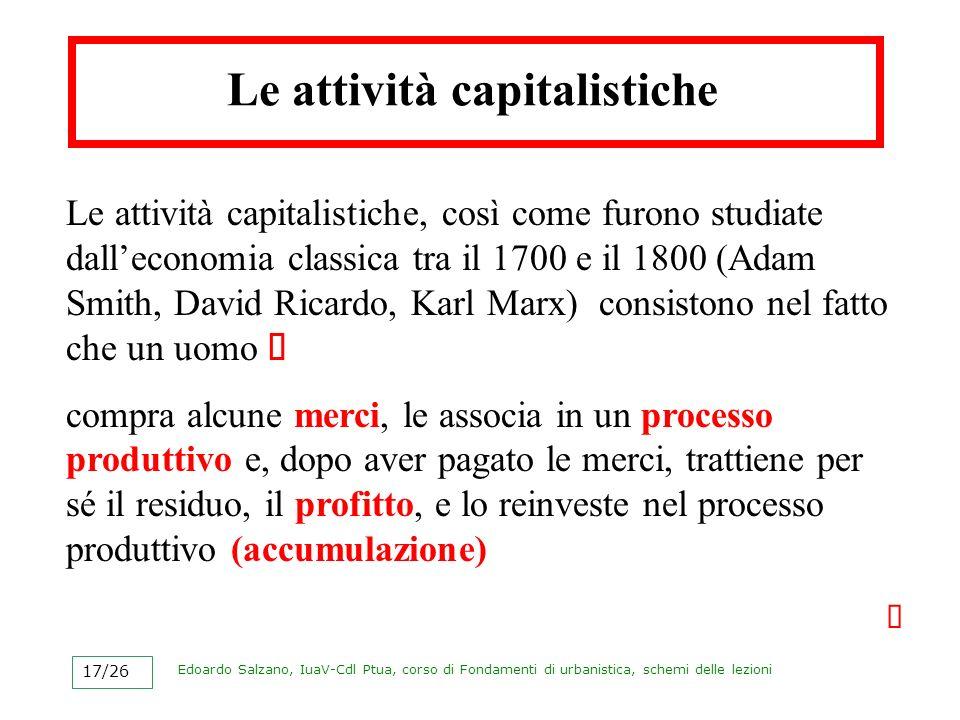 Le attività capitalistiche