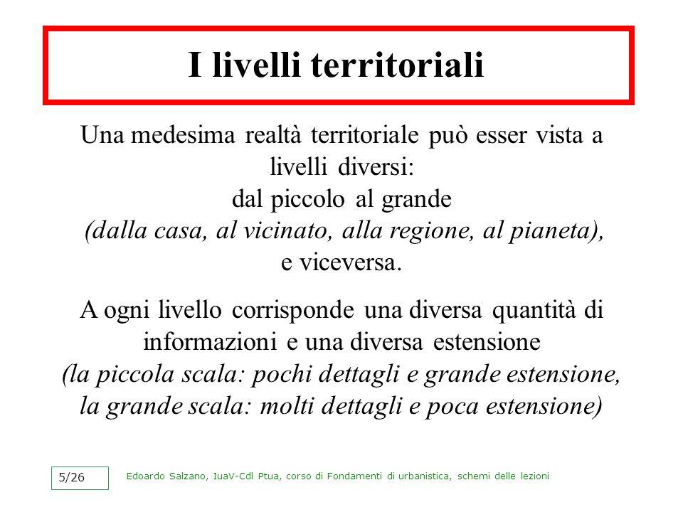 I livelli territoriali