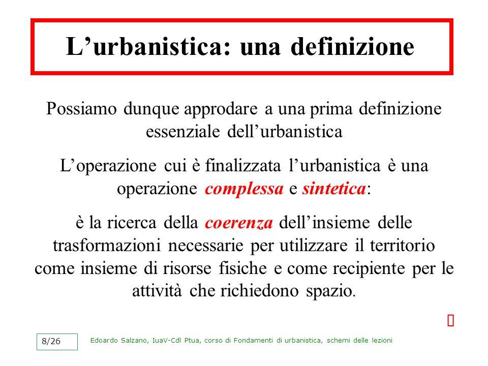 L'urbanistica: una definizione