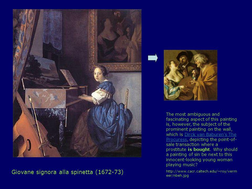 Giovane signora alla spinetta (1672-73)