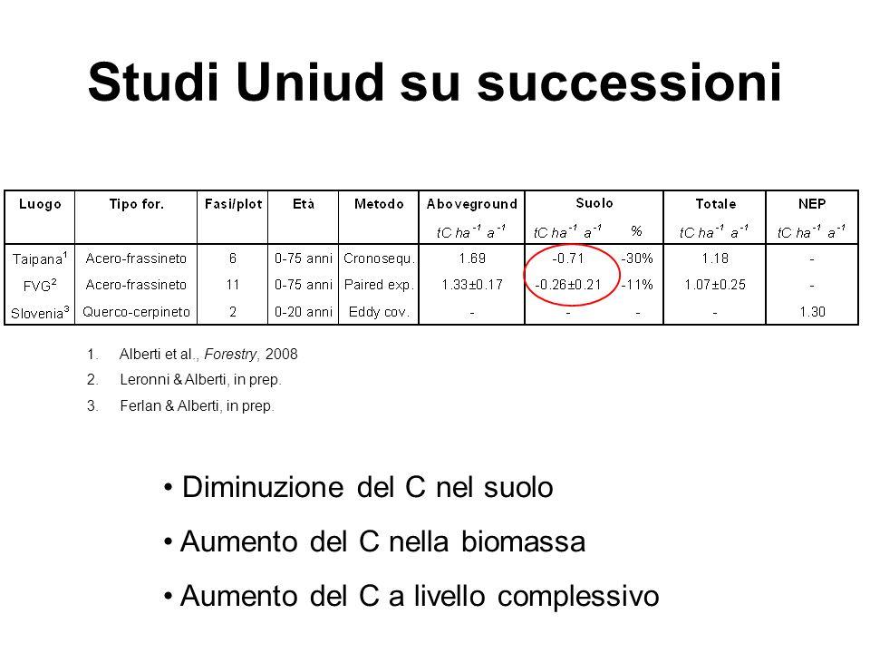 Studi Uniud su successioni