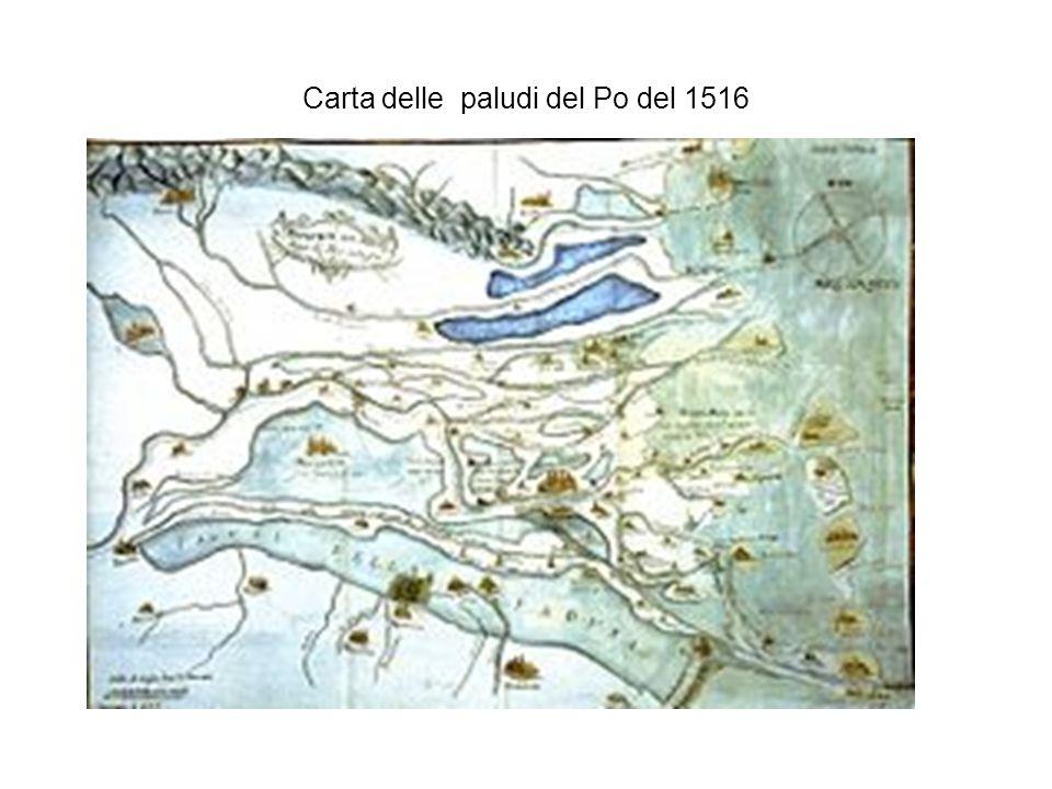 Carta delle paludi del Po del 1516