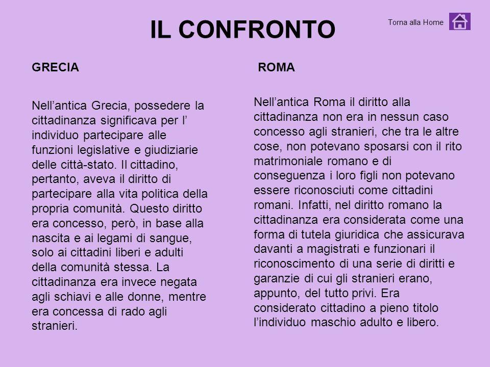 IL CONFRONTO GRECIA ROMA