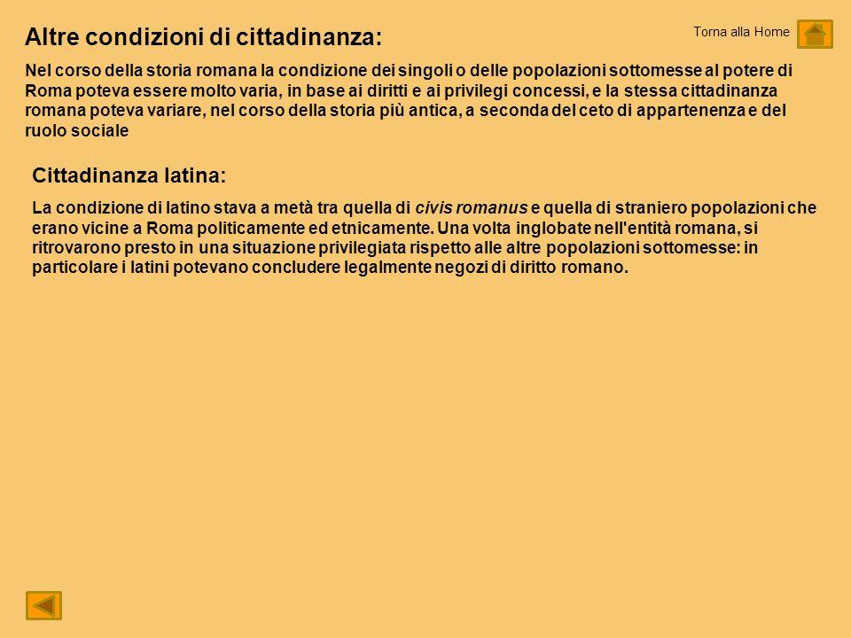 Altre condizioni di cittadinanza: