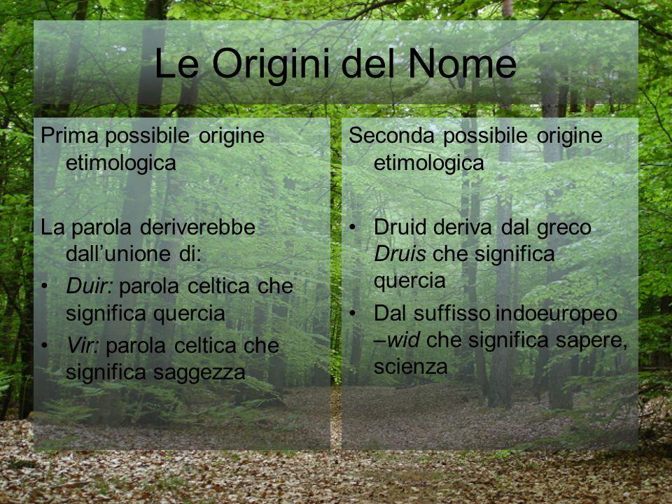 Le Origini del Nome Prima possibile origine etimologica