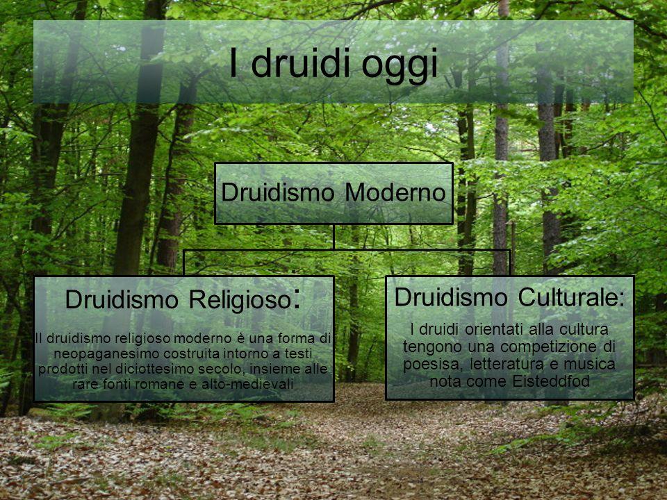 I druidi oggi Druidismo Religioso: Druidismo Culturale: