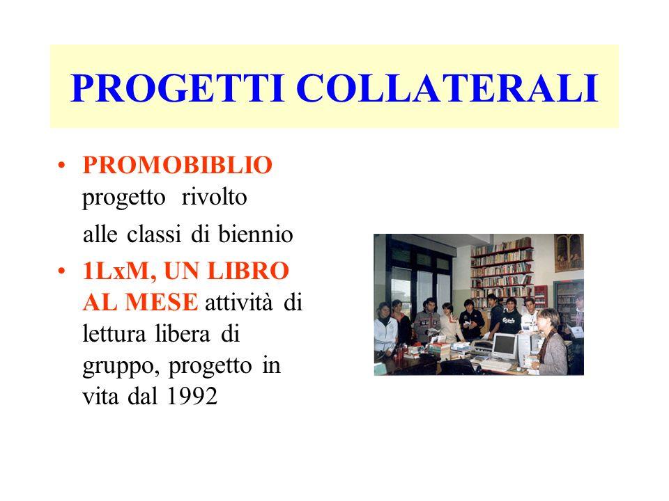 PROGETTI COLLATERALI PROMOBIBLIO progetto rivolto