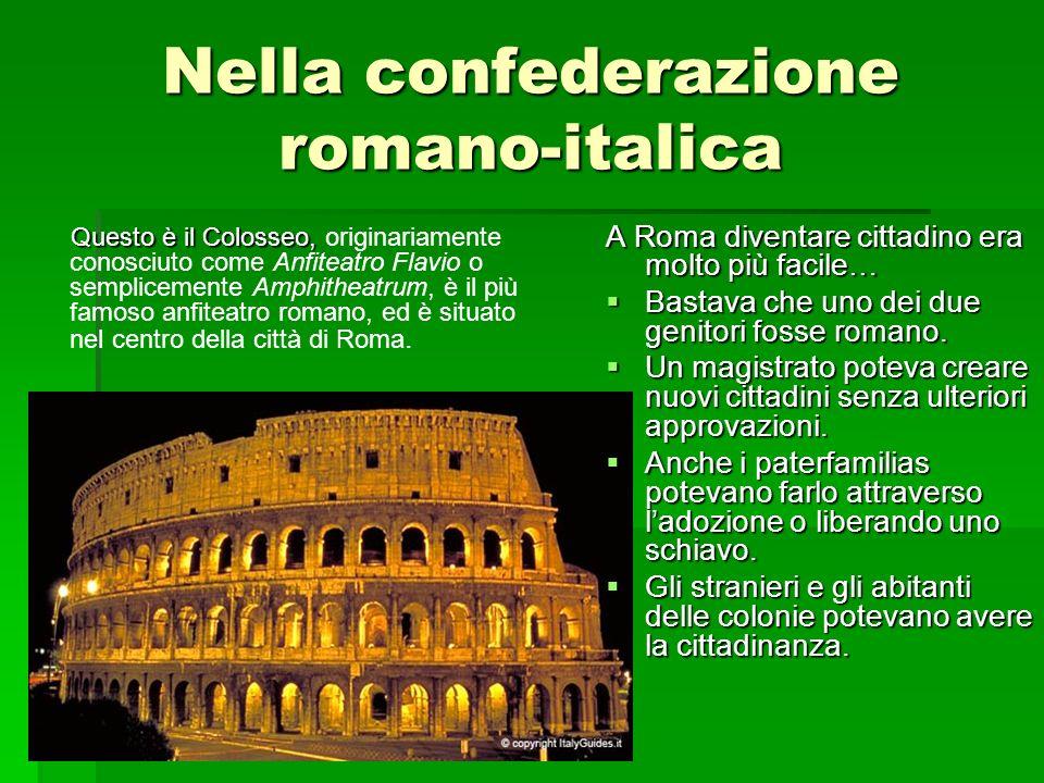 Nella confederazione romano-italica