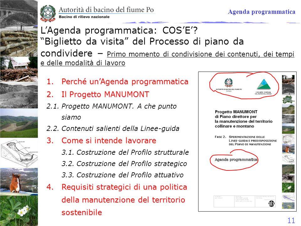 L'Agenda programmatica: COS'E'