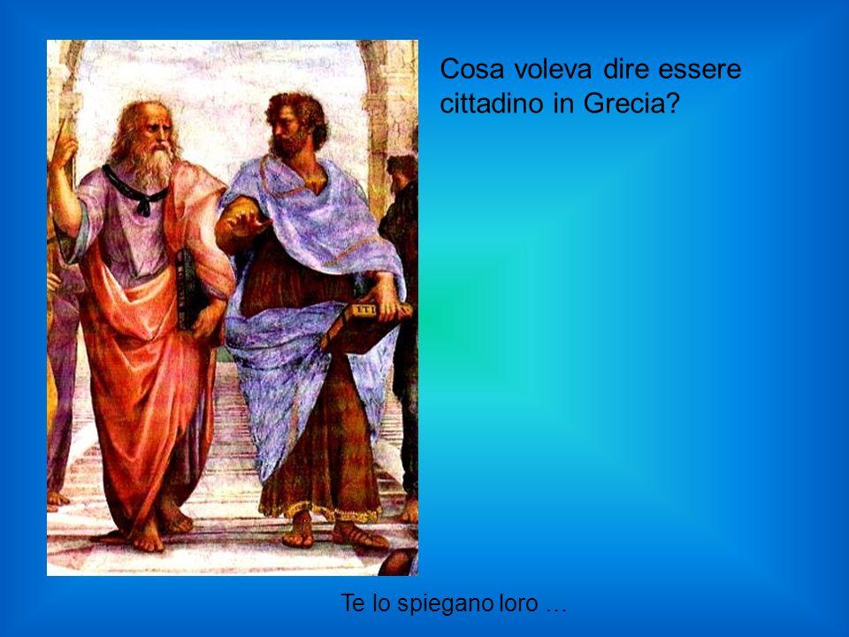 Cosa voleva dire essere cittadino in Grecia