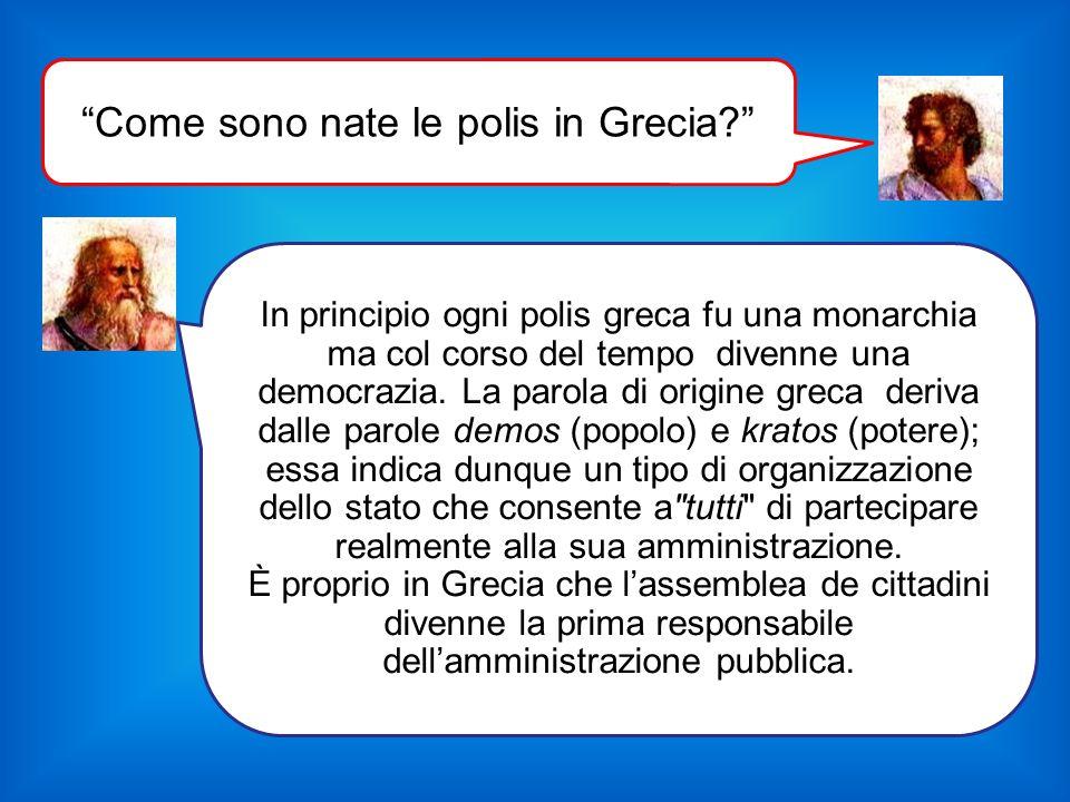 Come sono nate le polis in Grecia