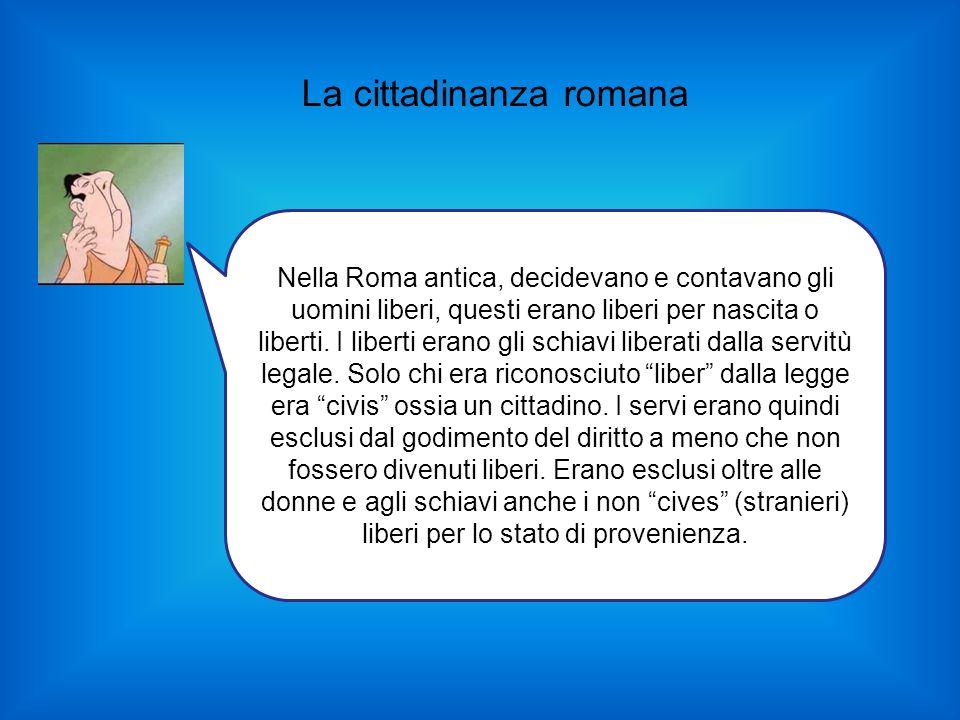 La cittadinanza romana