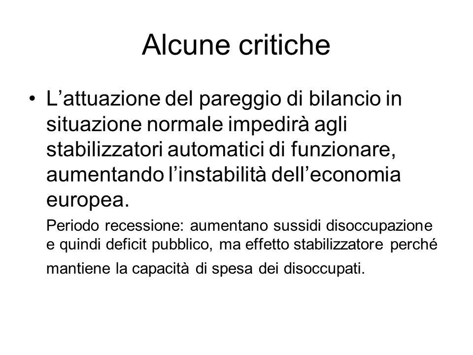 Alcune critiche