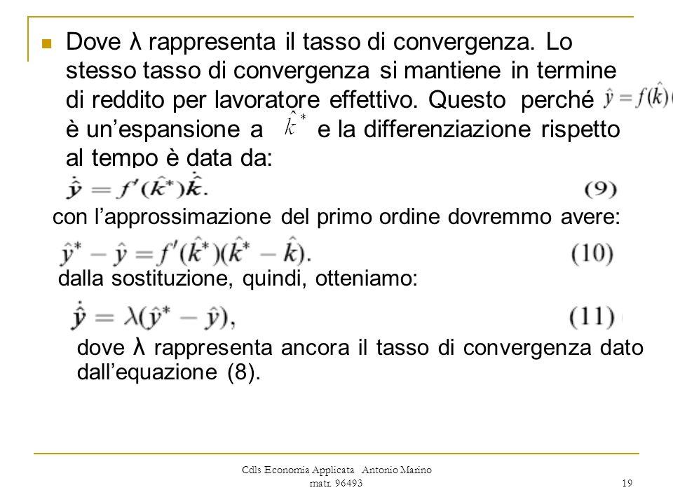 Cdls Economia Applicata Antonio Marino matr. 96493