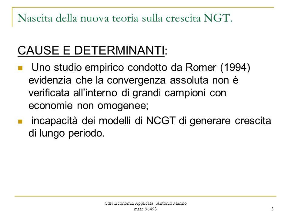 Nascita della nuova teoria sulla crescita NGT.