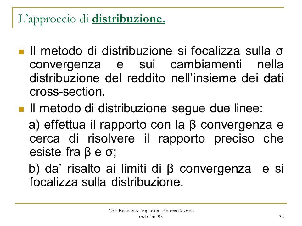 L'approccio di distribuzione.