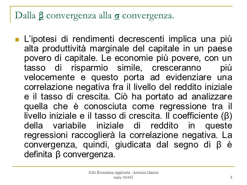 Dalla β convergenza alla σ convergenza.