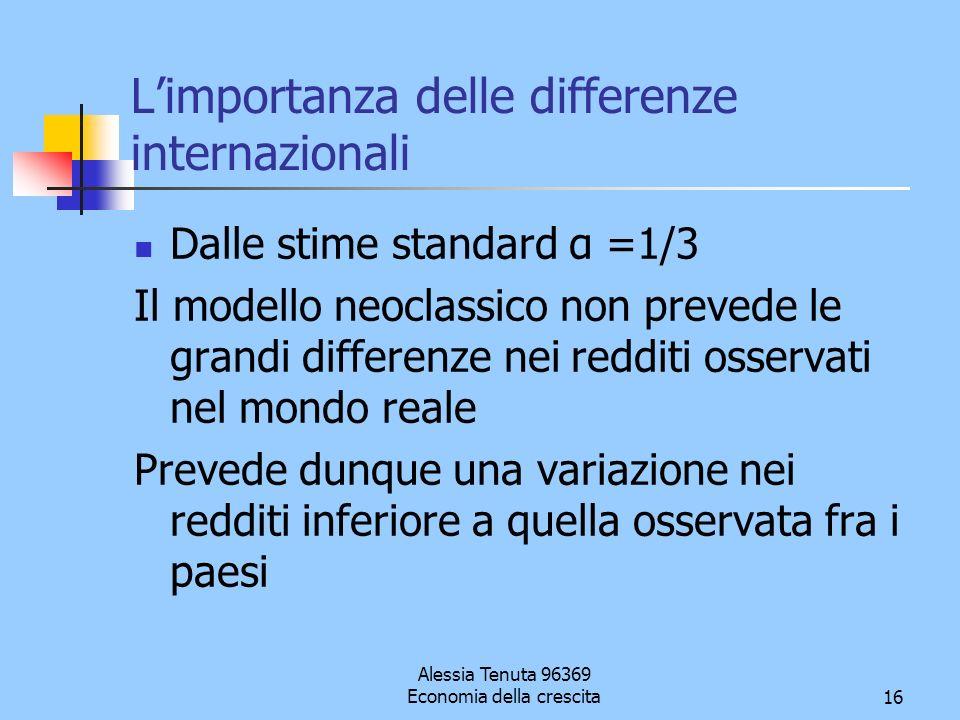L'importanza delle differenze internazionali