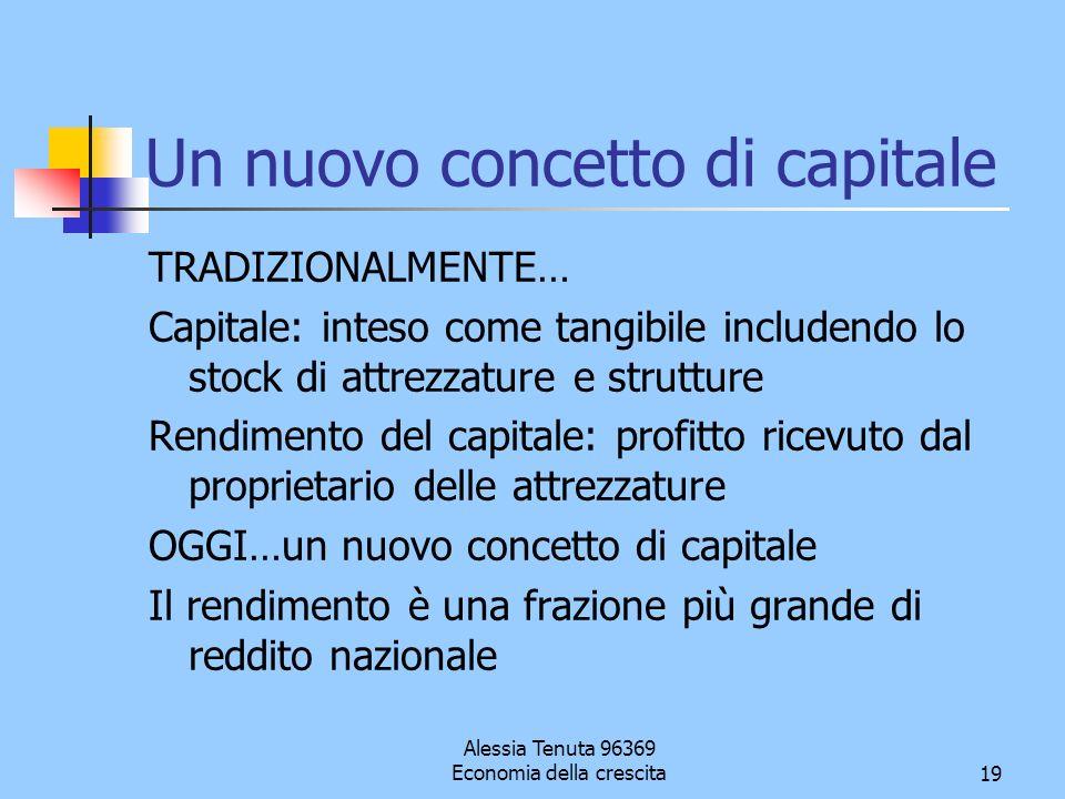 Un nuovo concetto di capitale