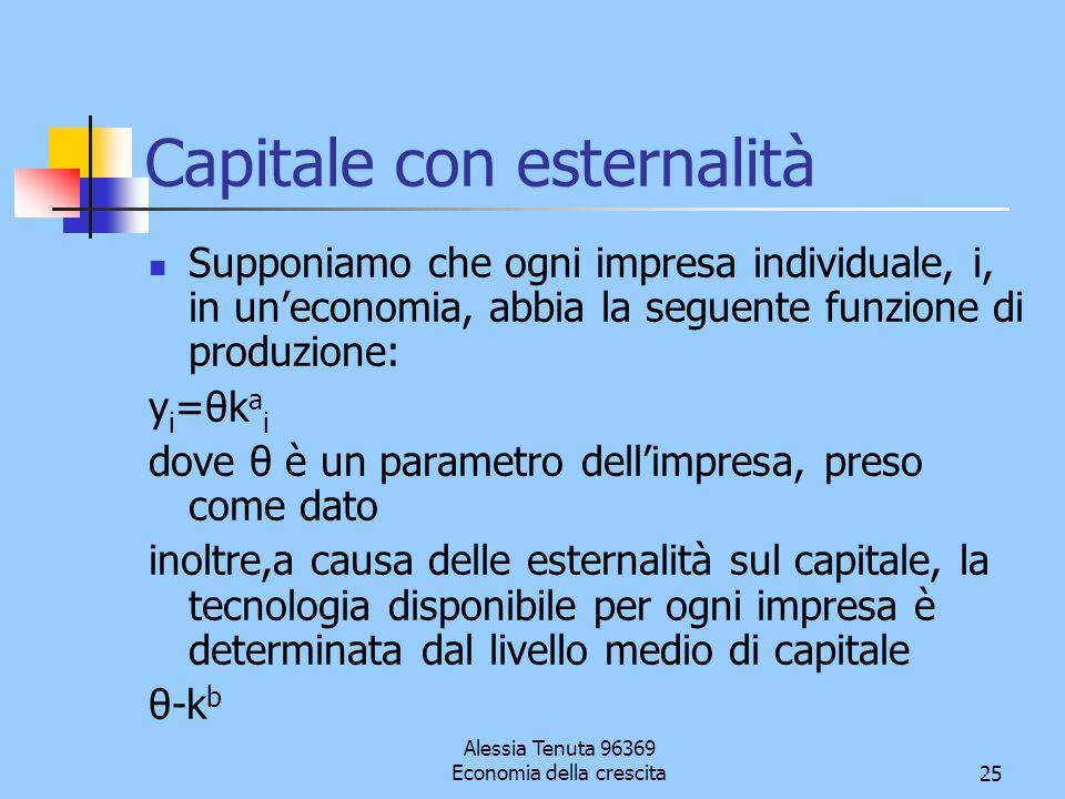 Capitale con esternalità