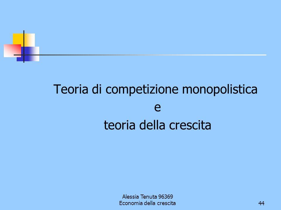 Teoria di competizione monopolistica e teoria della crescita