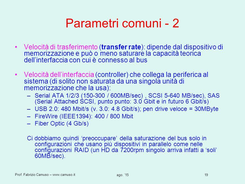 Parametri comuni - 2