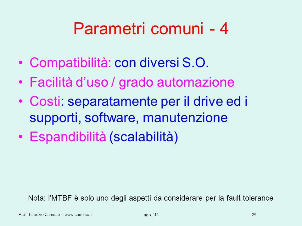 Parametri comuni - 4 Compatibilità: con diversi S.O.