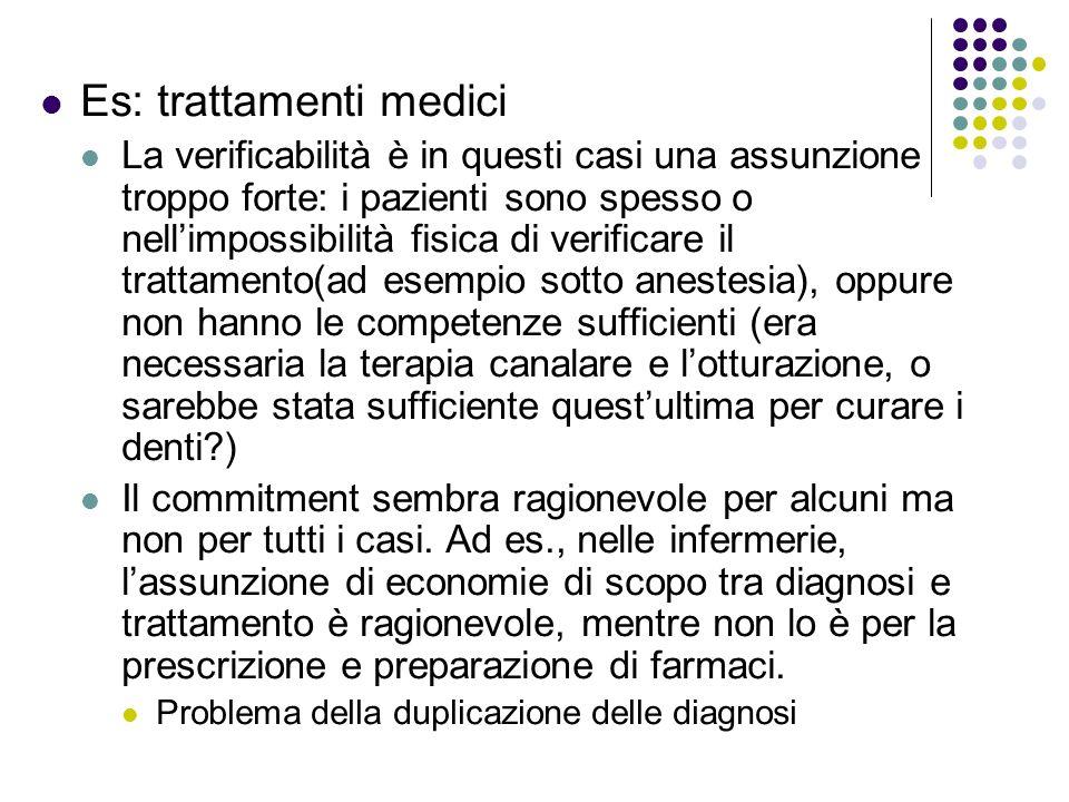 Es: trattamenti medici