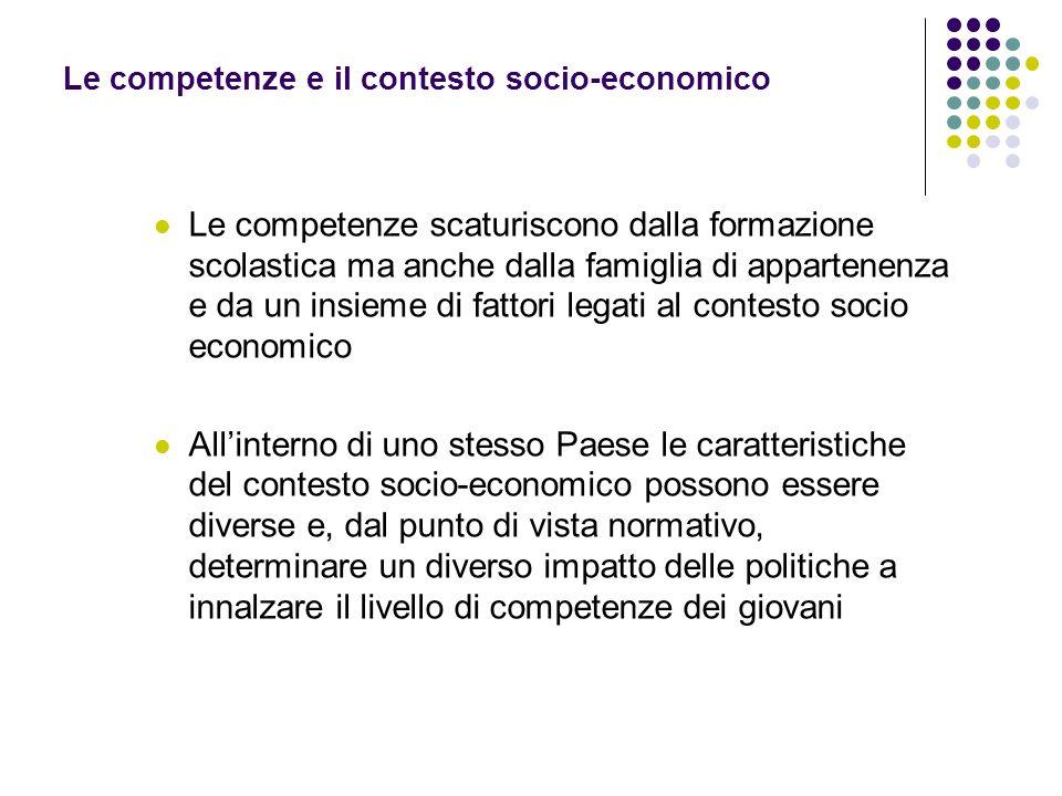 Le competenze e il contesto socio-economico