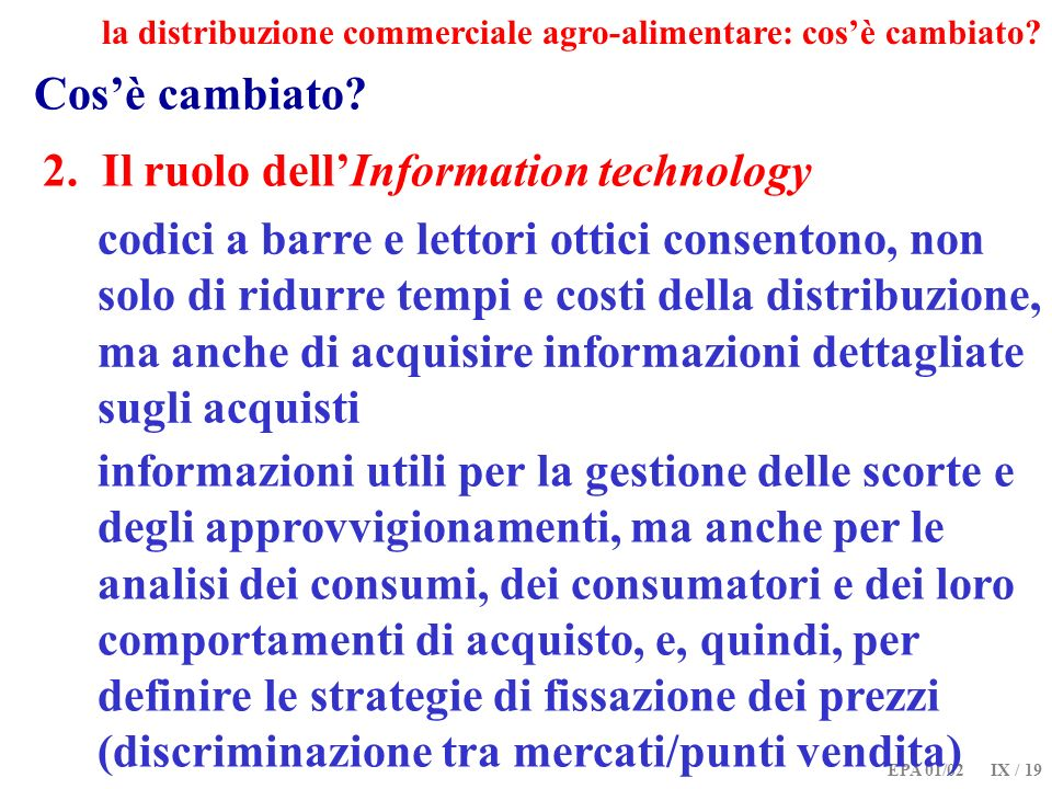 2. Il ruolo dell'Information technology