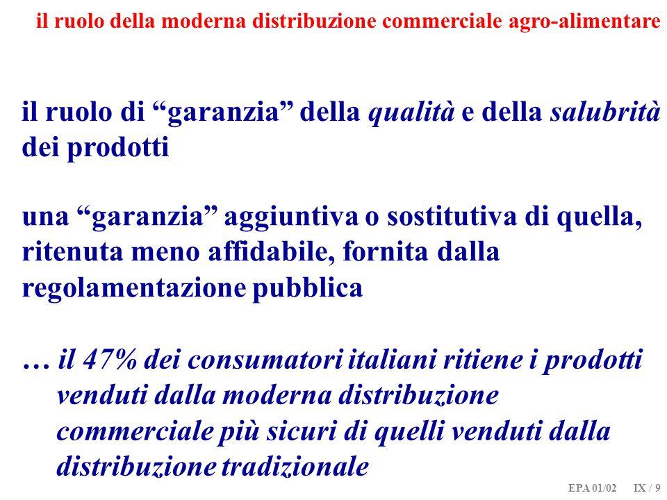 il ruolo di garanzia della qualità e della salubrità dei prodotti