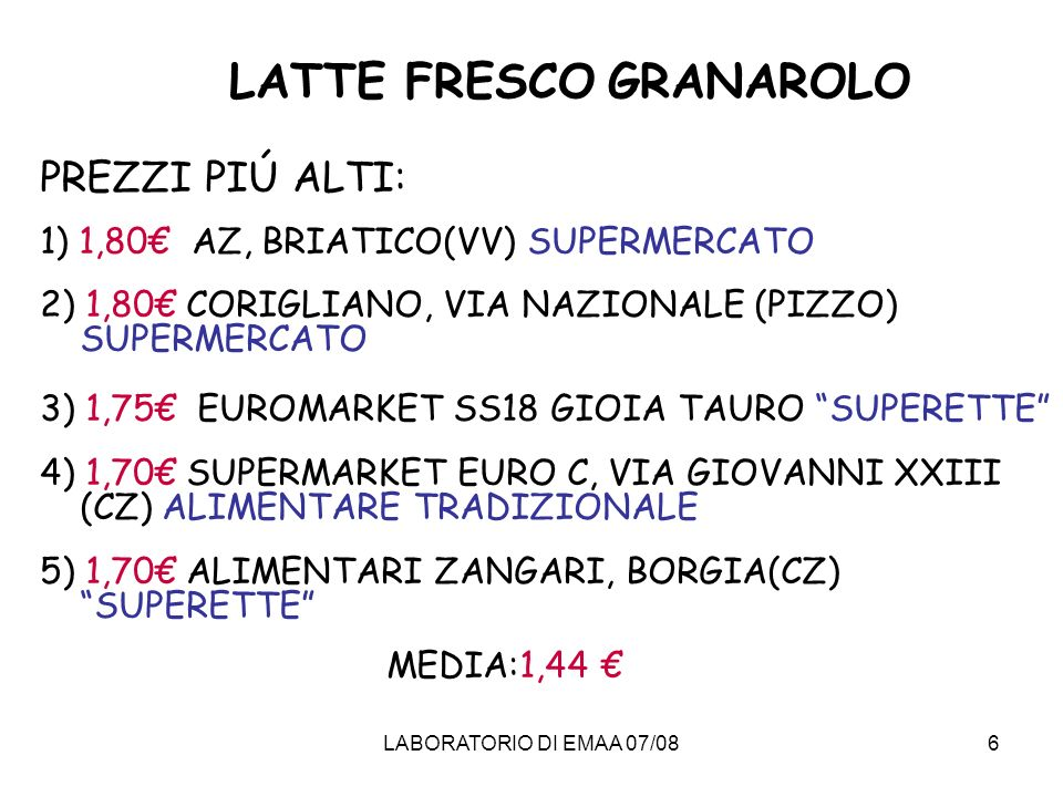 LATTE FRESCO GRANAROLO