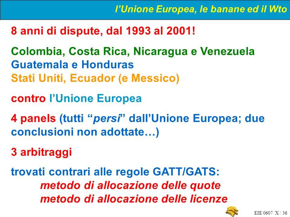 l'Unione Europea, le banane ed il Wto