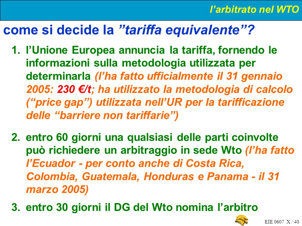 come si decide la tariffa equivalente