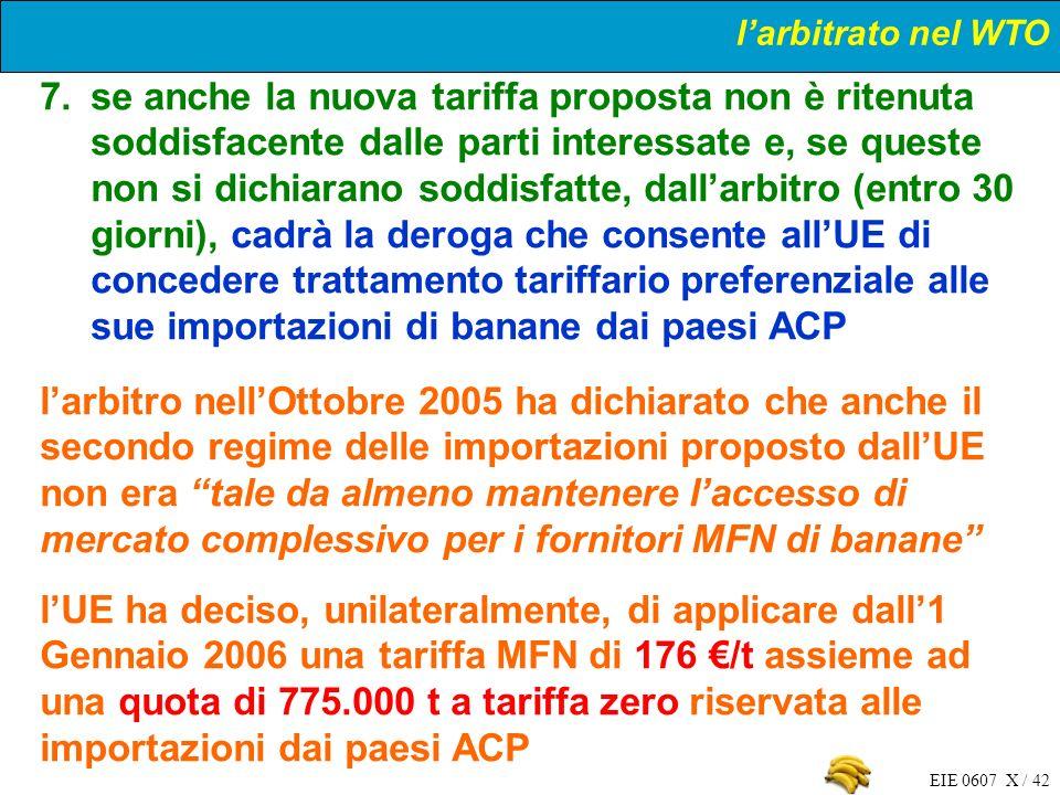 l'arbitrato nel WTO
