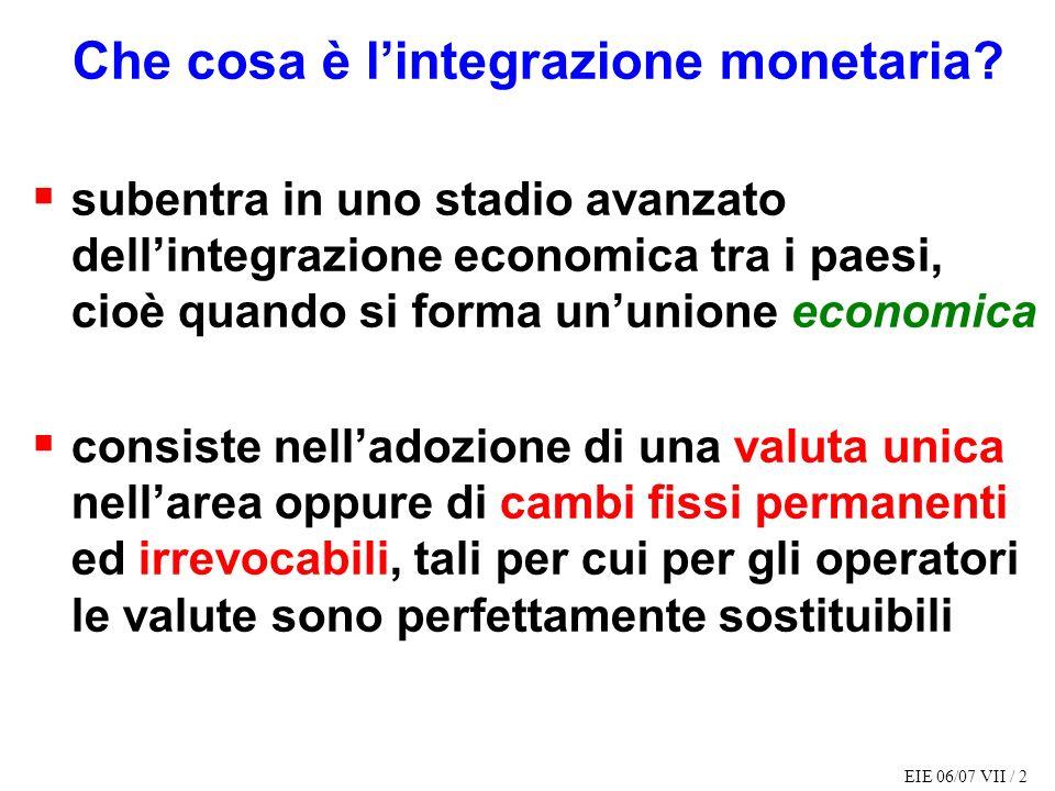 Che cosa è l'integrazione monetaria
