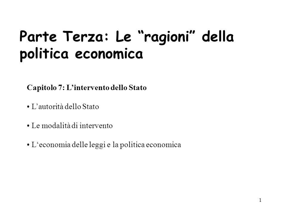 Parte Terza: Le ragioni della politica economica