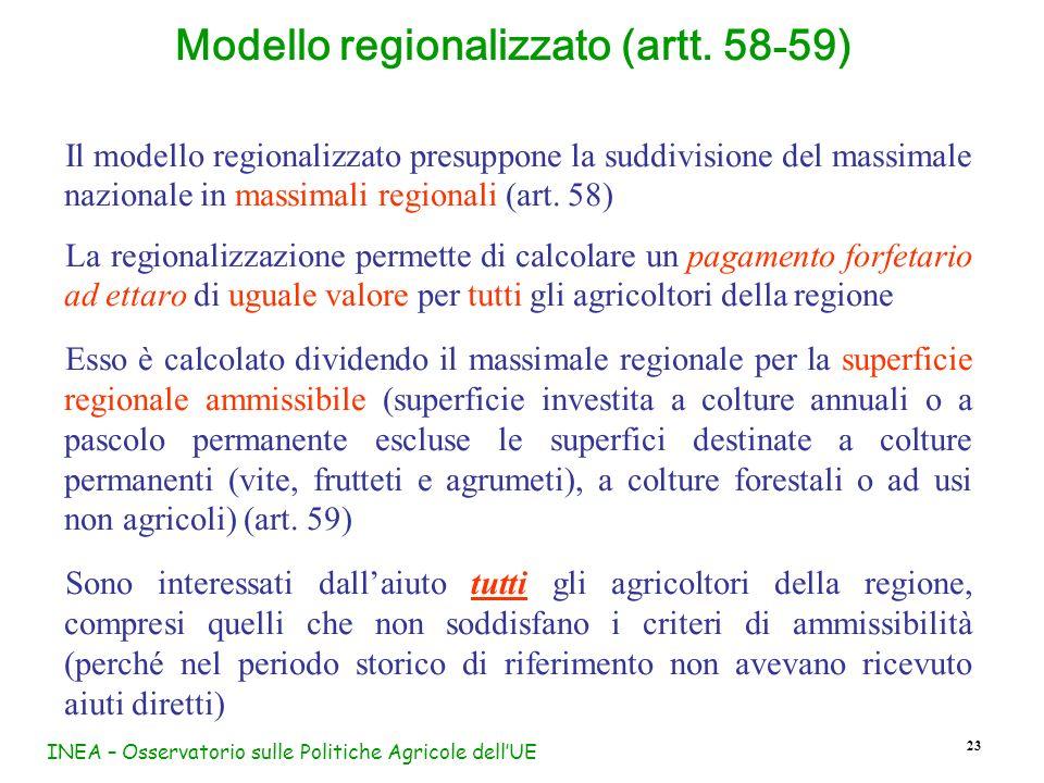 Modello regionalizzato (artt. 58-59)