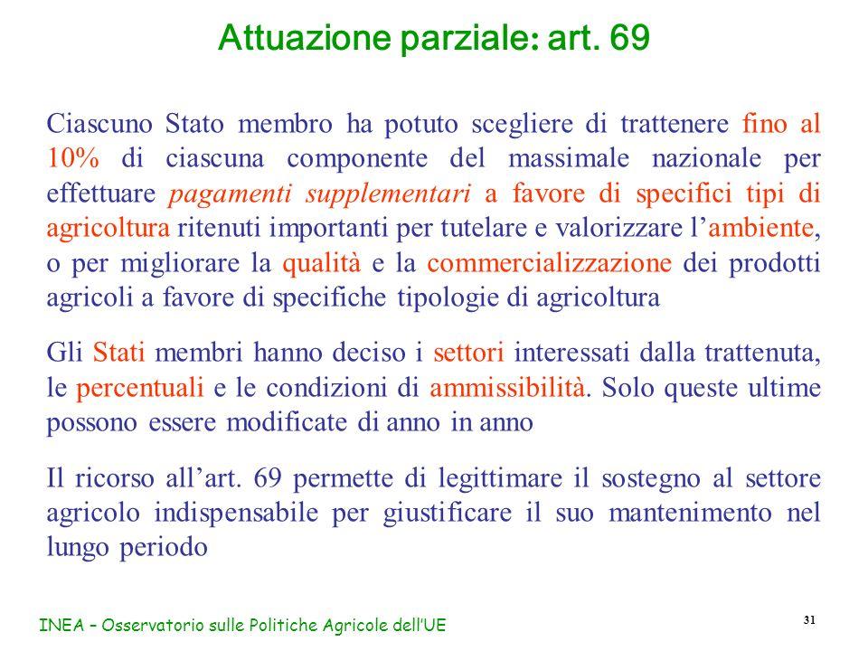Attuazione parziale: art. 69
