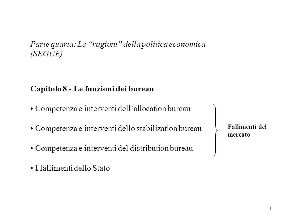 Parte quarta: Le ragioni della politica economica (SEGUE)