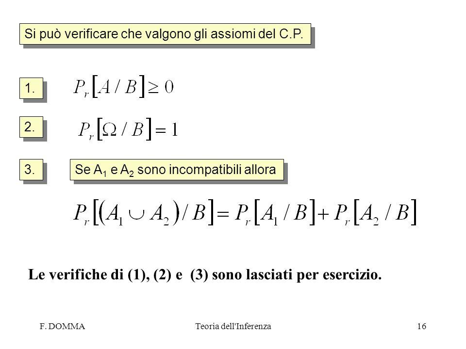 Le verifiche di (1), (2) e (3) sono lasciati per esercizio.