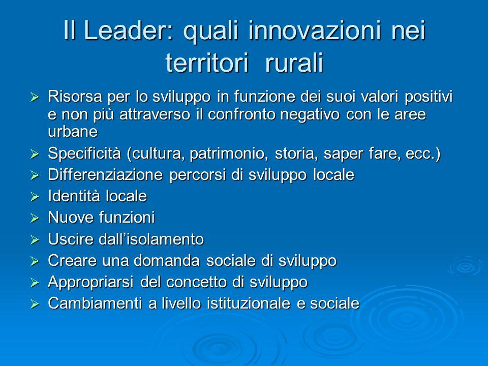 Il Leader: quali innovazioni nei territori rurali