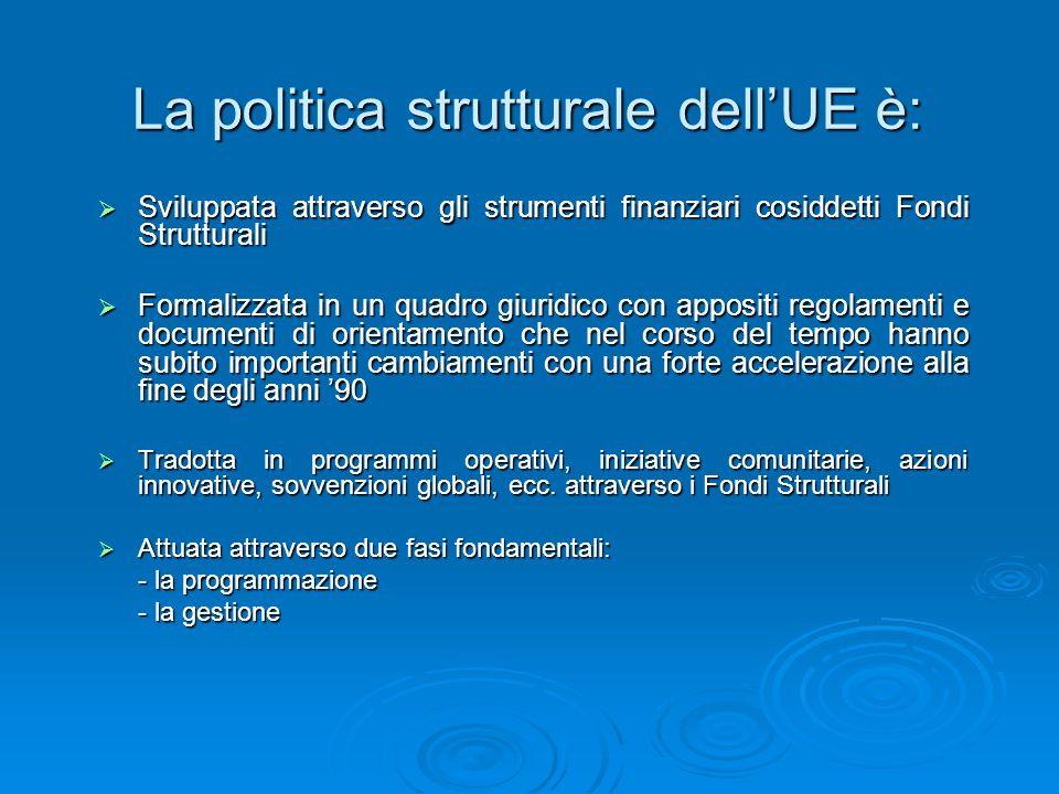 La politica strutturale dell'UE è: