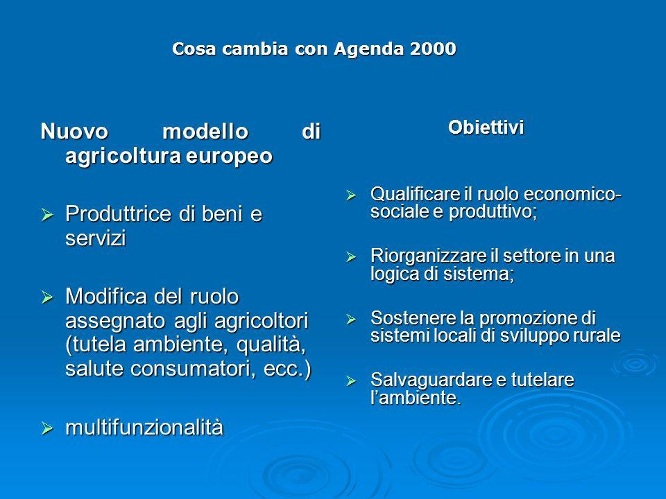 Nuovo modello di agricoltura europeo