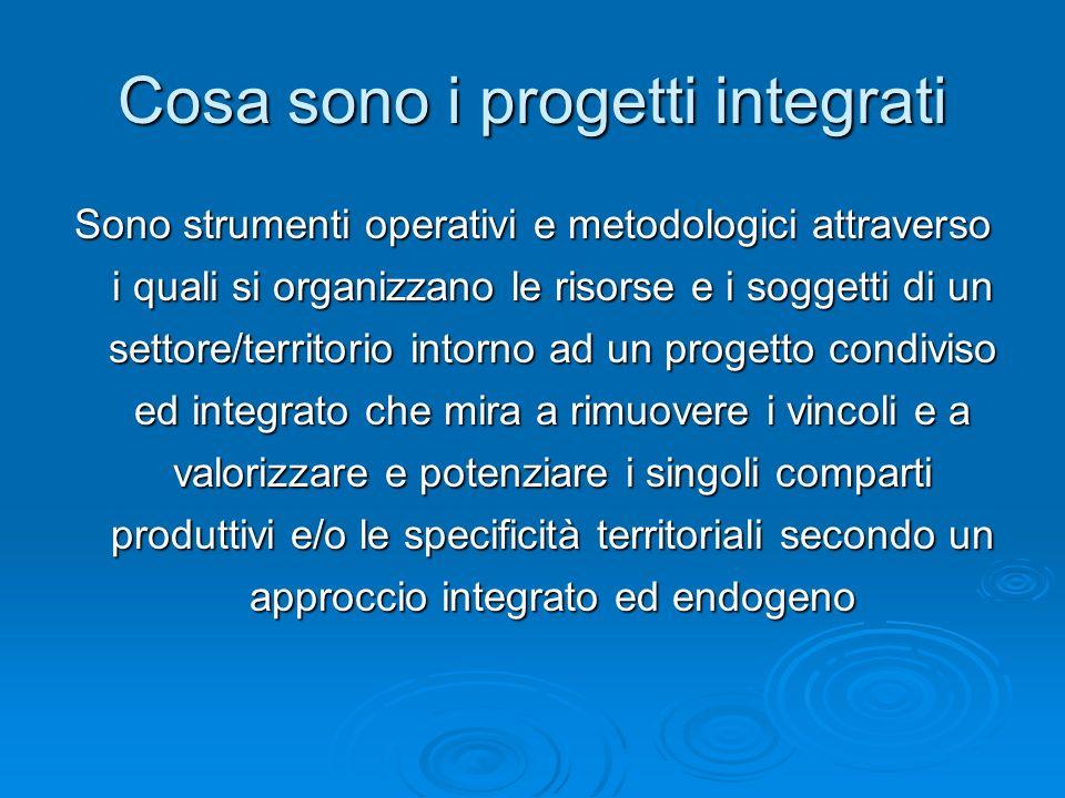 Cosa sono i progetti integrati
