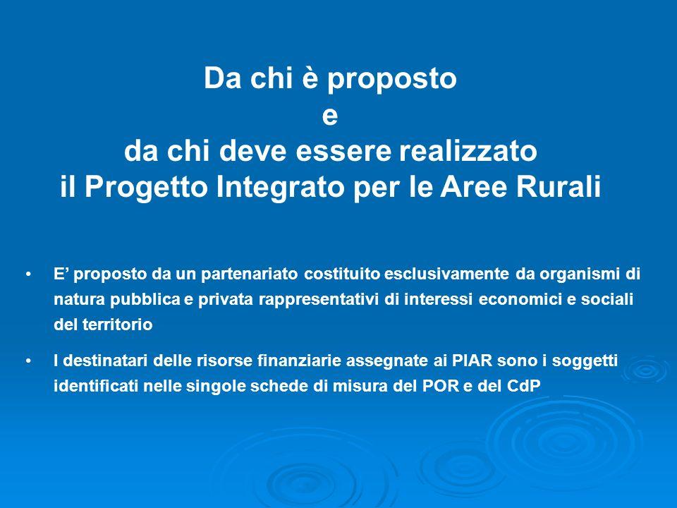 da chi deve essere realizzato il Progetto Integrato per le Aree Rurali