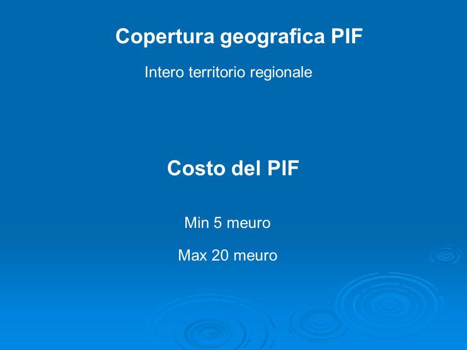 Copertura geografica PIF