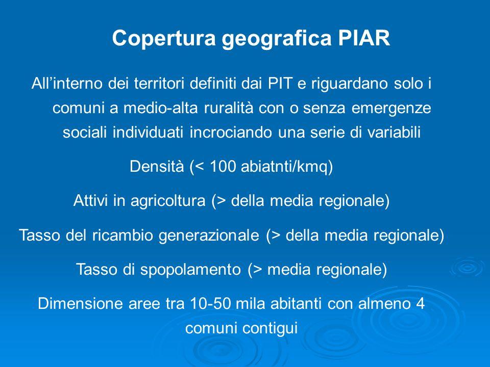 Copertura geografica PIAR